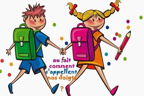 J'apprends, je grandis en maternelle et primaire: Identifier le nom des doigts, apprendre à lire (cursive, script, majuscule) - maternelle GS, Primaire CP, FLE | Frenchbook : FLE juniors | Scoop.it