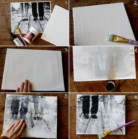 Make Your Own Canvas Portrait! - A Beautiful Mess | Art 2.0 | Scoop.it