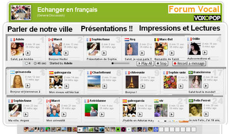 Echanger en français sur un Forum Vocal | Remue-méninges FLE | Scoop.it