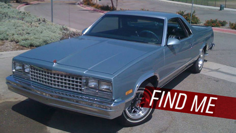 Let's Help Track Down This Stolen El Camino | Everything about cars | Scoop.it