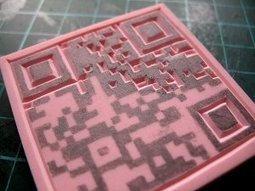 carving out QR codes | eraser carving and printmaking | vizuālā māksla | Scoop.it
