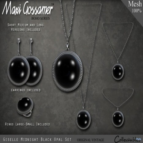 Black Giselle Opal Necklace Set Group Gift by Maxi Gossamer | Teleport Hub - Second Life Freebies | Second Life Freebies | Scoop.it