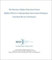 Literature Review: Highly Effective Undergraduate Intervention Strategies | BHEF | Evidence-based Practices in STEM Education | Scoop.it