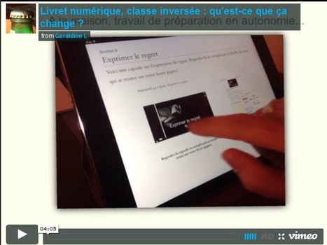 Classe inversée et livret numérique interactif : avantages ? Un exemple en FLE... | Ideas, readings and resources for teachers of French | Scoop.it