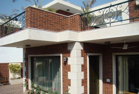 Indian Classic - Red Brick Tiled House designed by VOK Architects | Best Architect in Gurgaon | Scoop.it