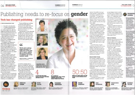 Publishing needs to re-focus on gender | The Bookseller | Macmillan Science and Education: Selected Media Coverage 2014 | Scoop.it