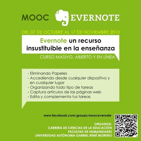 "Invitación al Mooc ""Evernote un recurso insustituible en la enseñanza"" 
