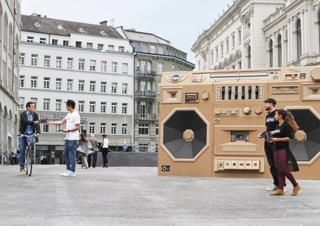 """Enormous Cardboard Boombox: The Mini Ghettoblaster 