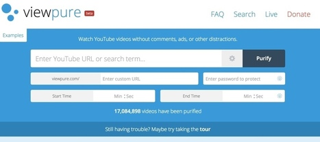 ViewPure. Les vidéos de Youtube et seulement les vidéos | Les outils du Web 2.0 | Scoop.it
