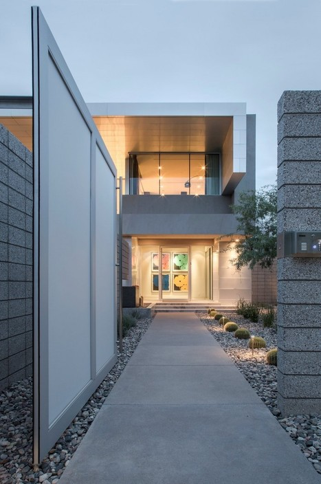 Strong Geometry Shaping the Exterior of Birds Nest Residence in Arizona | TAD - TECHNOLOGY ARCHITECTURE & DESIGN | Scoop.it