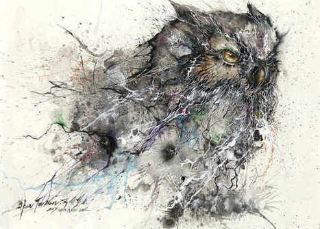 Pintura salpicada que forman animales | animales | Scoop.it