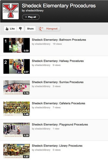 Moving at the Speed of Creativity | Using Student Videos on YouTube to Demonstrate Proper School Procedures | EdTech in PYP | Scoop.it