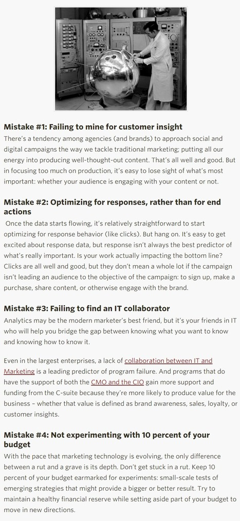 Four Digital Marketing Mistakes You Should Never Make - CMO Essentials | Online Marketing | Scoop.it