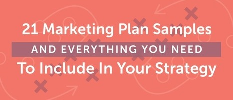 21 Marketing Plan Samples And Everything You Need To Include In Your Strategy - CoSchedule Blog | Marketing_me | Scoop.it