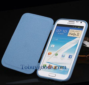 Brand New Luxury Leather Flip Case Stand Cover For Samsung Galaxy Note 2 II N7100 Blue   here are some good goods form tobuygoods   Scoop.it