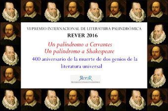 REVER: VI PREMIO INTERNACIONAL DE LITERATURA PALINDRÓMICA REVER 2016 | Palíndroms Palíndromos Palindromes | Scoop.it
