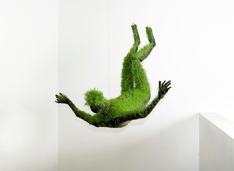 mathilde roussel: hanging living grass sculptures | What Surrounds You | Scoop.it