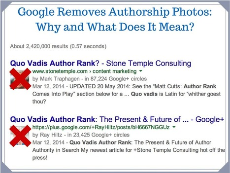 Google Removes Author Photos From Search: Why And What Does It Mean? | Social Media and Mobile Websites | Scoop.it