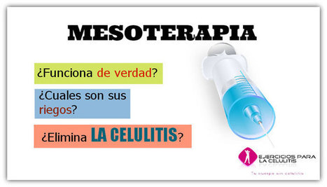Mesoterapia | ¿Es segura? ¿Elimina la celulitis? | News | Scoop.it
