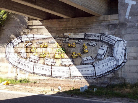 Le Marche's Street Artist Blu's brand new piece in Chiomonte, Italy | Le Marche another Italy | Scoop.it