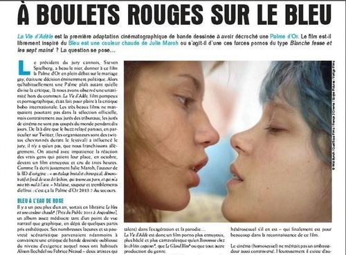 Louisa Amara – Critique de la Vie d'Adèle dans @zoolemag, écrite…