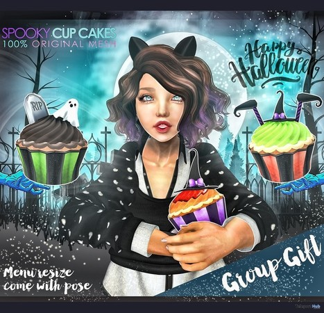Spooky Cupcake Group Gift by NS | Teleport Hub - Second Life Freebies | Second Life Freebies | Scoop.it