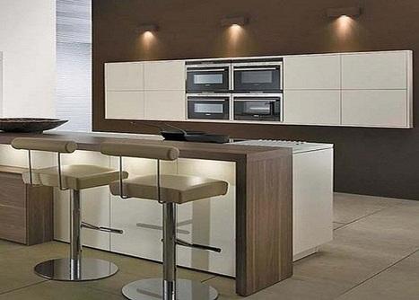 Stunning Kitchen Design Interior Decorating Ideas With Sleek Island With Stools   Rhinway- home design   Scoop.it