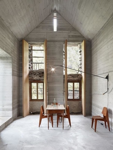 It Looks Like A 200-Year-Old Crumbling Home, But Inside It's A Different Story - Archfly - Daily Dose Of Home Design Inspiration | Custom Home Building | Scoop.it