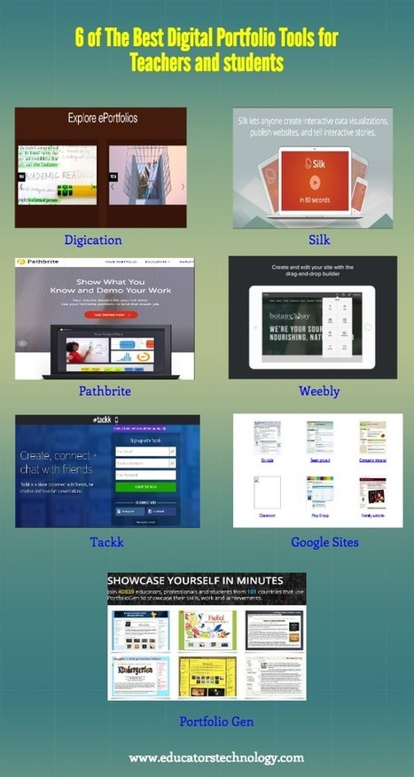 6 of The Best Web Tools for Creating Digital Portfolios ~ Educational Technology and Mobile Learning - Tech Week | media350 media and technology for teachers | Scoop.it