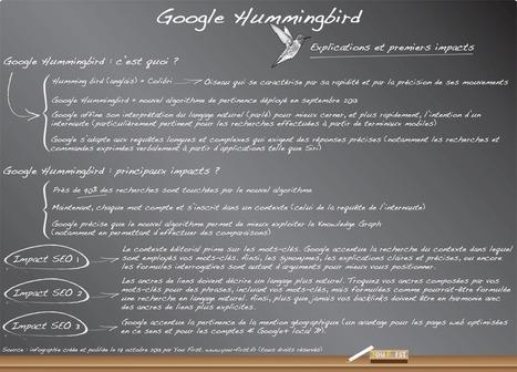 Google Hummingbird : infographie pour comprendre le nouvel algorithme du moteur (impacts SEO...) | Google SEO (référencement de pages web) | Scoop.it