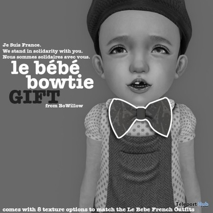 Le Bebe Bowtie Tous Les Enfants Gift by BoWillow | Teleport Hub - Second Life Freebies | Second Life Freebies | Scoop.it