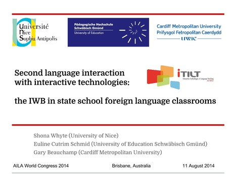 Second language interaction at the IWB: AILA paper | TELT | Scoop.it