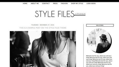 Minimal Pre made Blogger Template / Blogger Theme/ Blog Template / Black and White Fashion and Lifestyle Blogger Design | New Blogger | Blogger themes | Scoop.it