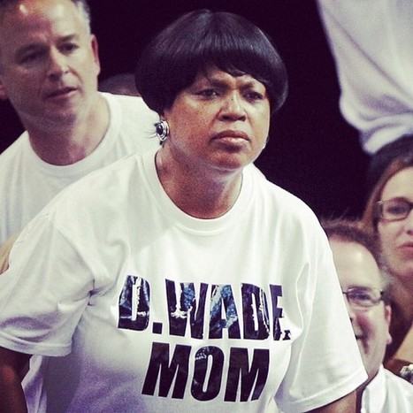 """""""Where Dwyane Wade gets his game face..."""" 