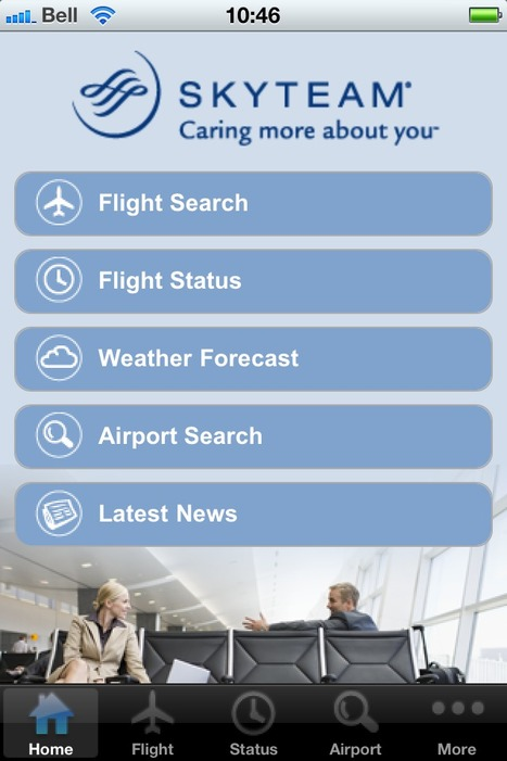 Une application mobile pour Skyteam | Airlines | Scoop.it