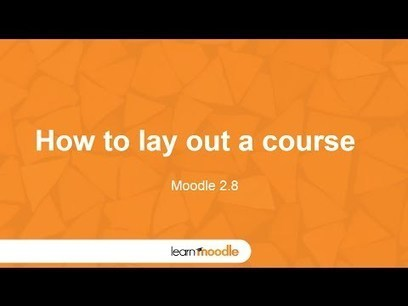 Moodle 2.8 How To Lay Out a Course - Moodle Tuts | E-Learning | Scoop.it
