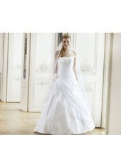 A Line Strapless Floor Length Taffeta Ivory Wedding Dress H1ly0001 for $957 | Landybridal 2014 wedding dress | Scoop.it