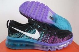 Nike Flyknit Air Max Womens Running Shoes Black White Purple | Nike Running Shoes | Scoop.it