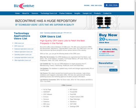 Get Customized CRM Customer List from Bizcontrive | Bizcontrive | Scoop.it