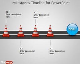 Free Milestone Shapes & Timeline for PowerPoint - Free PowerPoint Templates - SlideHunter.com | effective presentation | Scoop.it