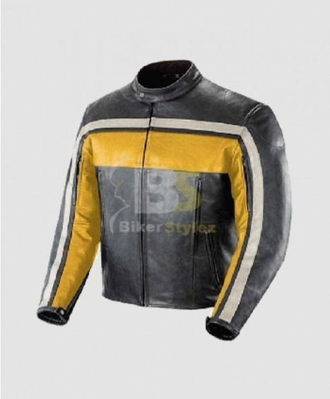 Joe Rocket Old School Yellow, Black & Ivory Outwear daring soft and luxurious style. | Biker stylez leather jackets | Scoop.it