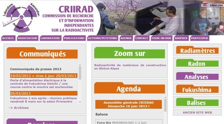 Un nouveau site Web pour la CRIIRAD | FUKUSHIMA INFORMATIONS | Scoop.it