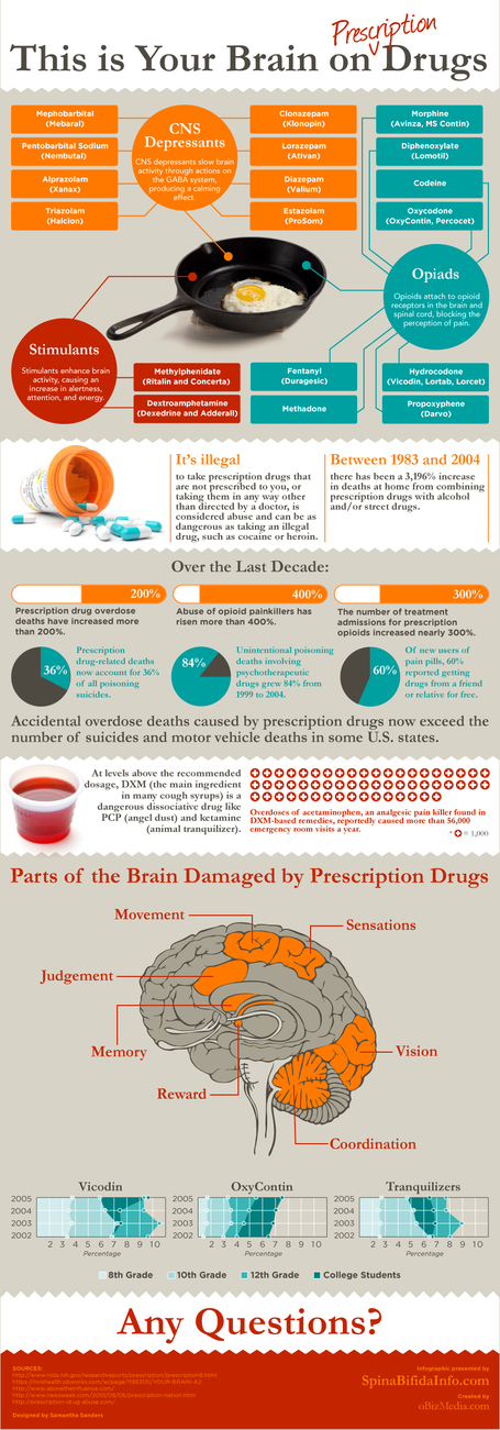 Your Brain on Prescription Drugs | Infographic Soup | Scoop.it