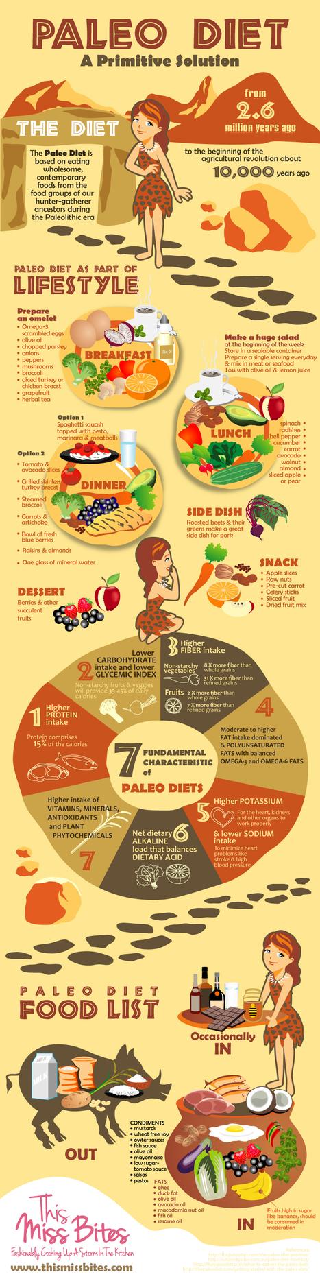 Paleo Diet: A Primitive Solution | Infographics | Scoop.it