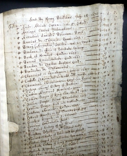 101 Treasures of Chethams - Accessions Register and Invoices Book | Blogs about medieval manuscripts and early print | Scoop.it