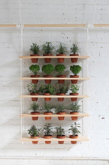 [Tutoriel] comment faire une étagère végétale suspendue | Déco fait maison, récup, upcycling, jardinage | Scoop.it