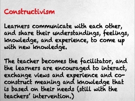 The difference between instructivism, constructivism, and connectivism | Cultural Trendz | Scoop.it