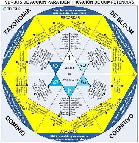 Taxonomía de Bloom – Verbos para la Identificación de Competencias | Infografía | Representando el conocimiento | Scoop.it
