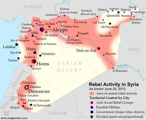 Political Geography Now: Syria Civil War Map: June 2013 (#10) | Blunnie's Geo Portfolio | Scoop.it