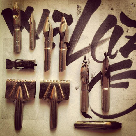 Old #calligraphy tools. #lettering #type #typography | Calligraphy | Scoop.it